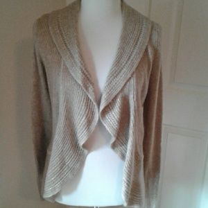 WHBM Open Cascade Cardigan w/Metallic Threads NWT